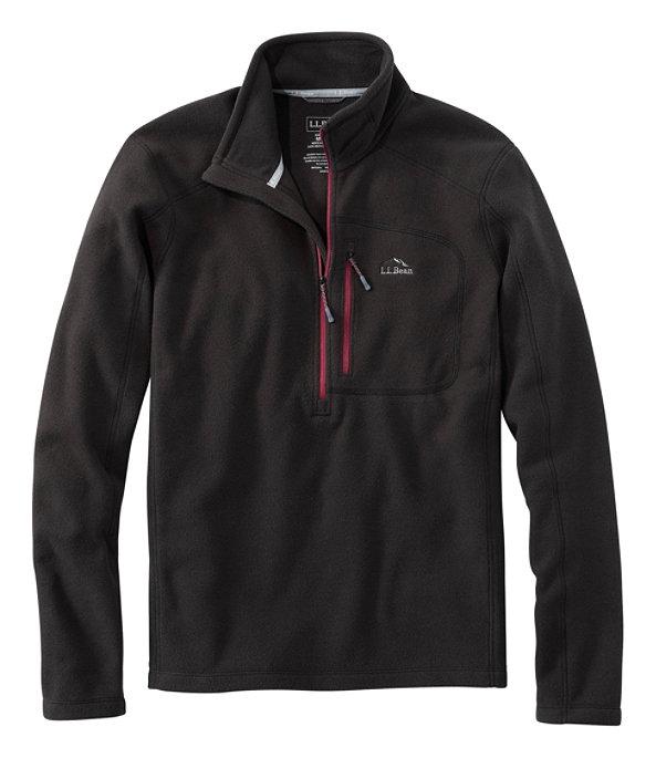Men's Trail Fleece Quarter-Zip Pullover, Classic Black/Burgundy, large image number 0