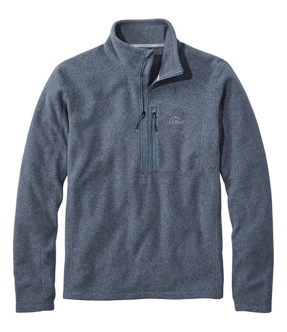 Men's Trail Fleece Quarter-Zip Pullover, Carbon Navy/Iron Blue, large image number 0