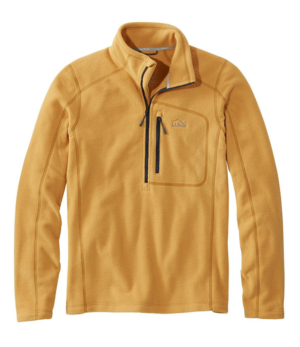 Men's Trail Fleece Quarter-Zip Pullover, Dark Curry/Nautical Navy, large image number 0