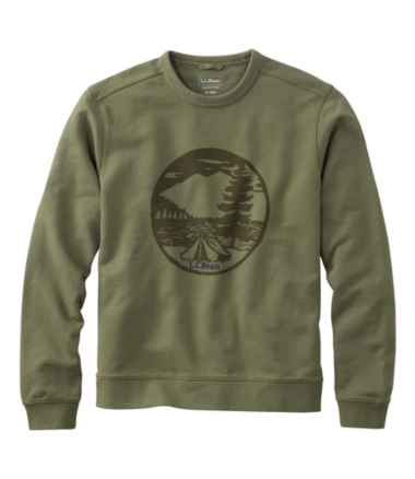Bean's Essential Crewneck Sweatshirt, Graphic Tent