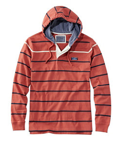 Men's Lakewashed Rugby, Traditional Fit Long-Sleeve Hoodie Stripe