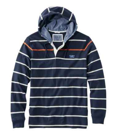 Lakewashed® Rugby, Traditional Fit Long-Sleeve Hoodie Stripe