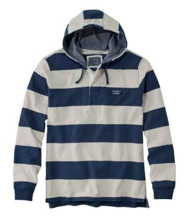 Men's Lakewashed® Rugby, Traditional Fit Long-Sleeve Hoodie Stripe
