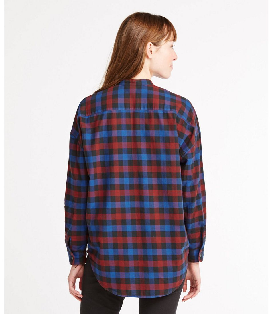 Women's Signature Lightweight Flannel Oversized Shirt, Plaid