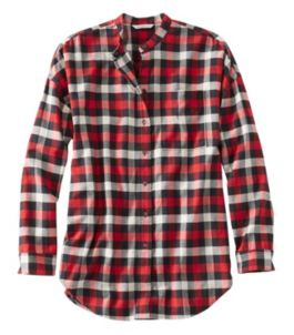 Women's Signature Lightweight Flannel Oversized Shirt, Plaid