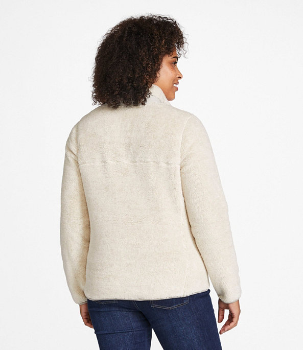 Women's Hi-Pile Fleece Pullover, Frost Gray Heather/Alloy Gray, large image number 2
