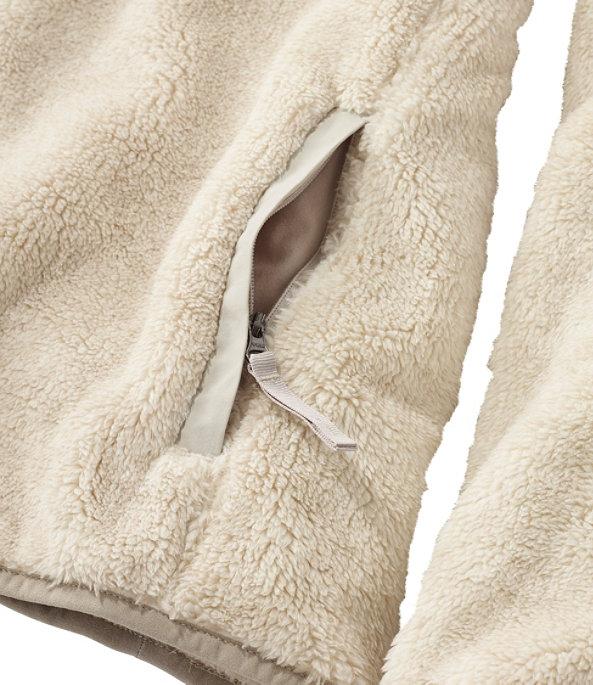 Women's Hi-Pile Fleece Pullover, Eucalyptus/Dark Olive, large image number 4