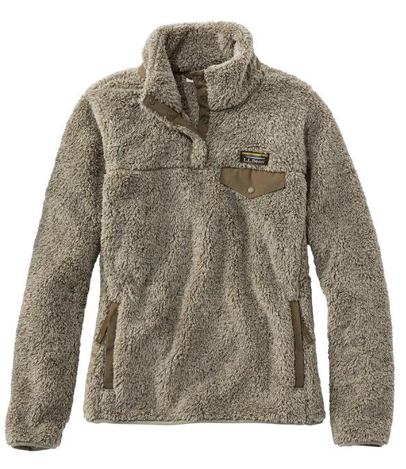 Women's Hi-Pile Fleece Pullover, Eucalyptus/Dark Olive, large image number 0