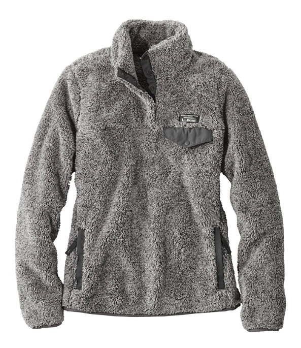 Women's Hi-Pile Fleece Pullover, Frost Gray Heather/Alloy Gray, large image number 0