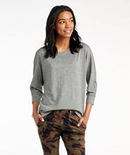 Signature Essential Knit Tee, Dolman Sleeve