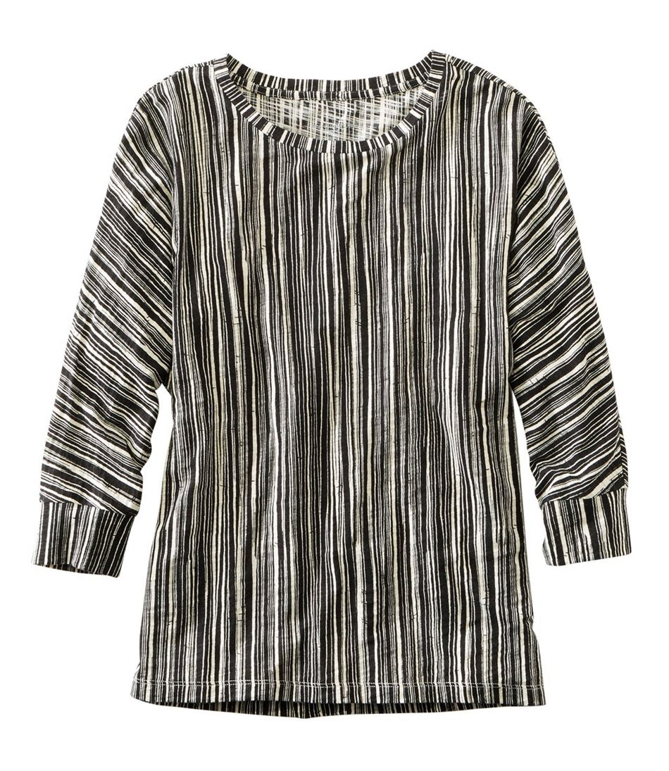 Signature Essential Knit Tee, Dolman Sleeve Print