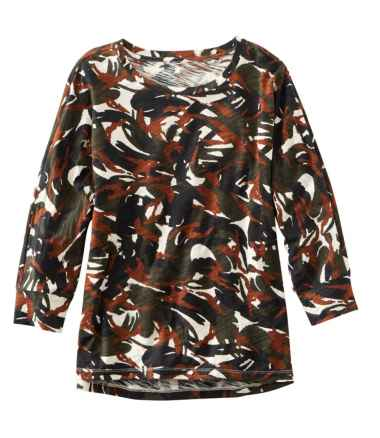 Women's Signature Essential Knit Tee, Dolman Sleeve Print