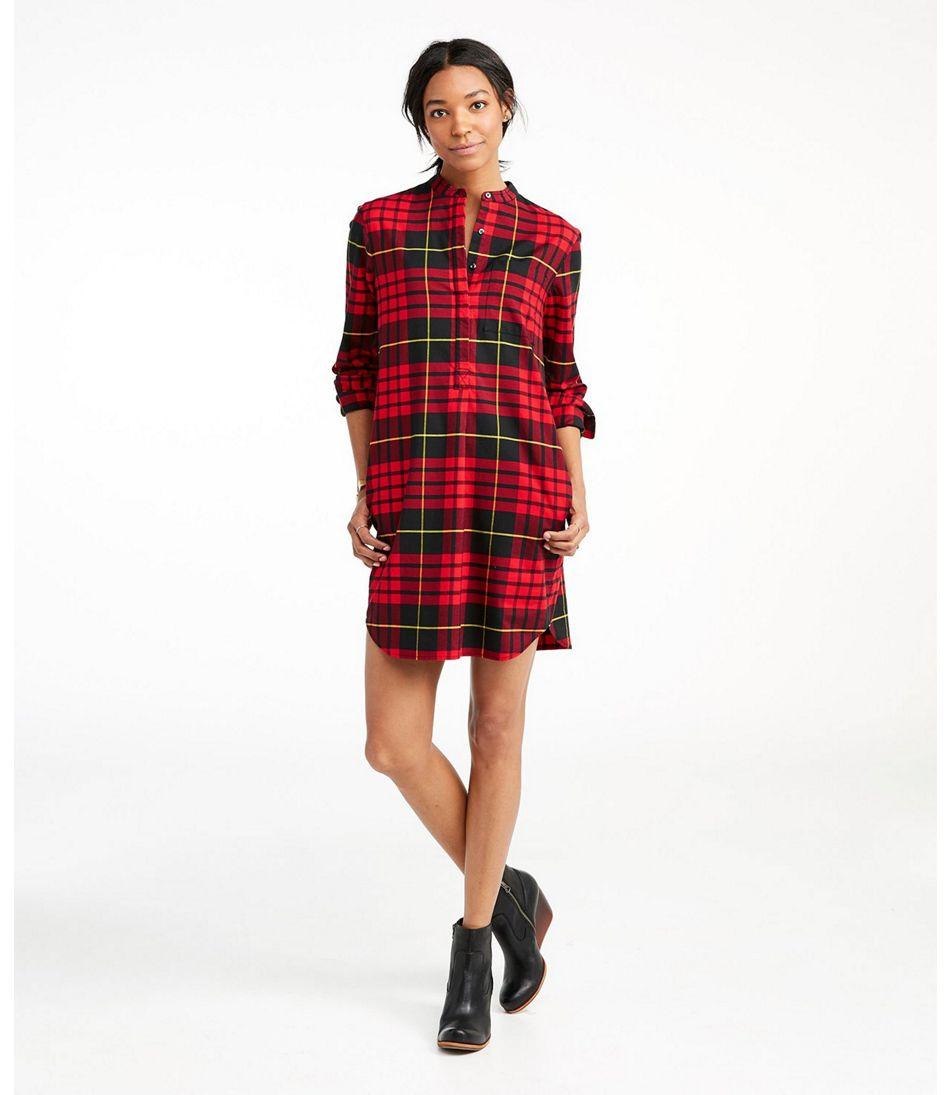 Signature Stretch Flannel Dress