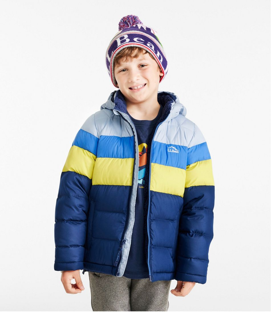 Kids' L.L.Bean Down Jacket, Colorblock