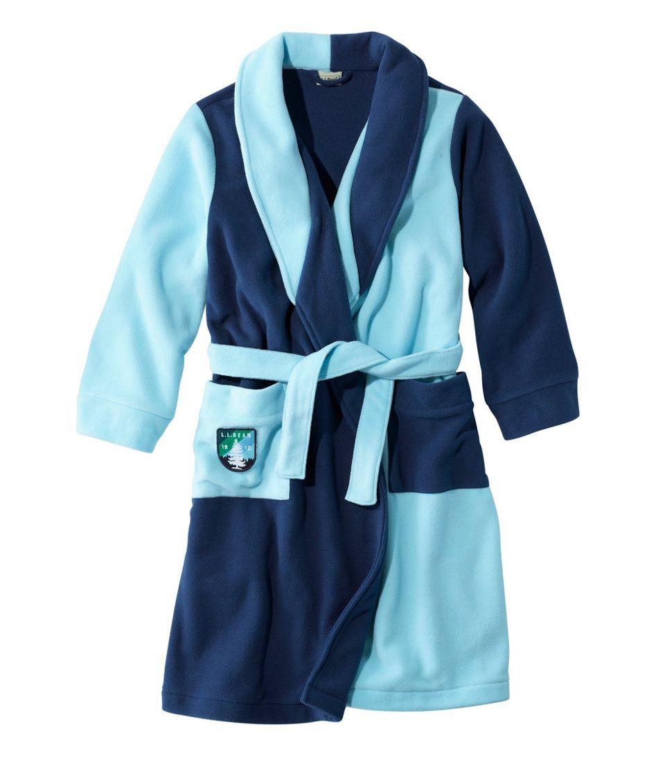 Kids' Fleece Robe, Colorblock