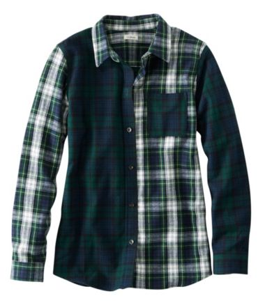 Scotch Plaid Flannel Shirt, Relaxed Colorblock