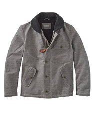 Men's Signature Sherpa-Lined Waxed Cotton Jacket, Slim Fit