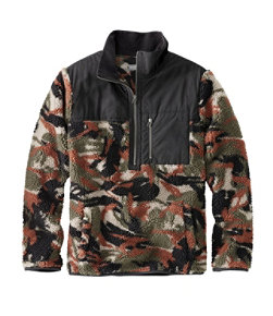 Men's Signature High-Pile Fleece Pullover, Print