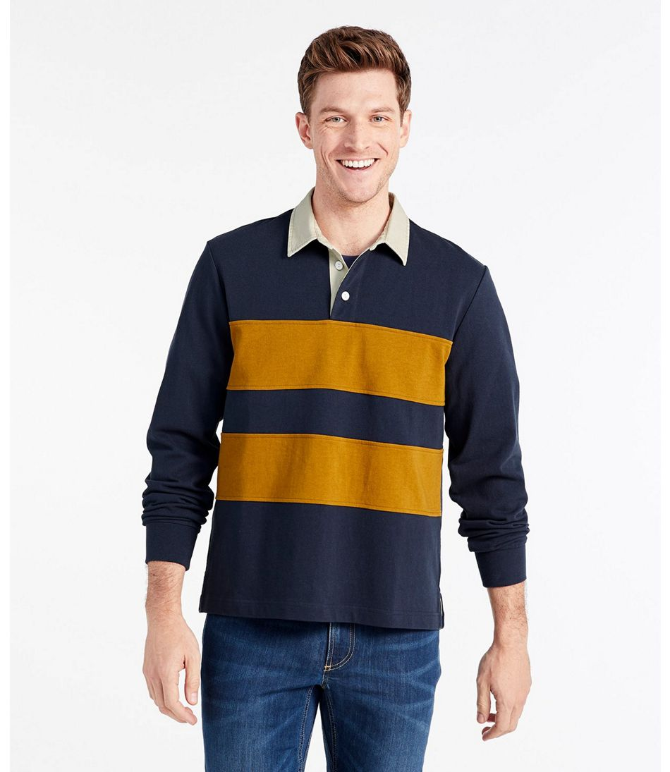 Signature Classic Rugby Shirt, Long-Sleeve Stripe