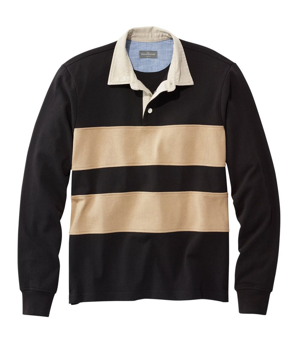 dd92ed6ad00 Men's Signature Classic Rugby Shirt, Long-Sleeve Stripe