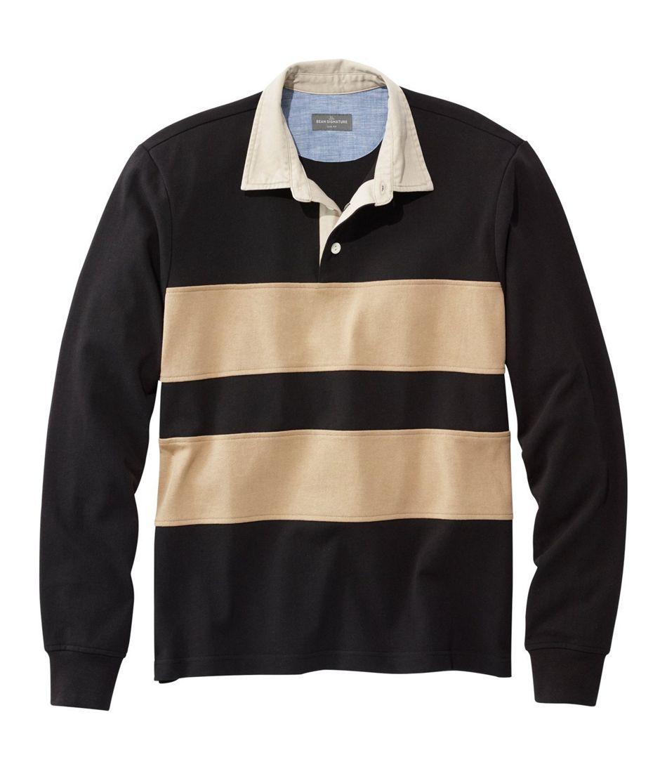 3e278674 Men's Signature Classic Rugby Shirt, Long-Sleeve Stripe