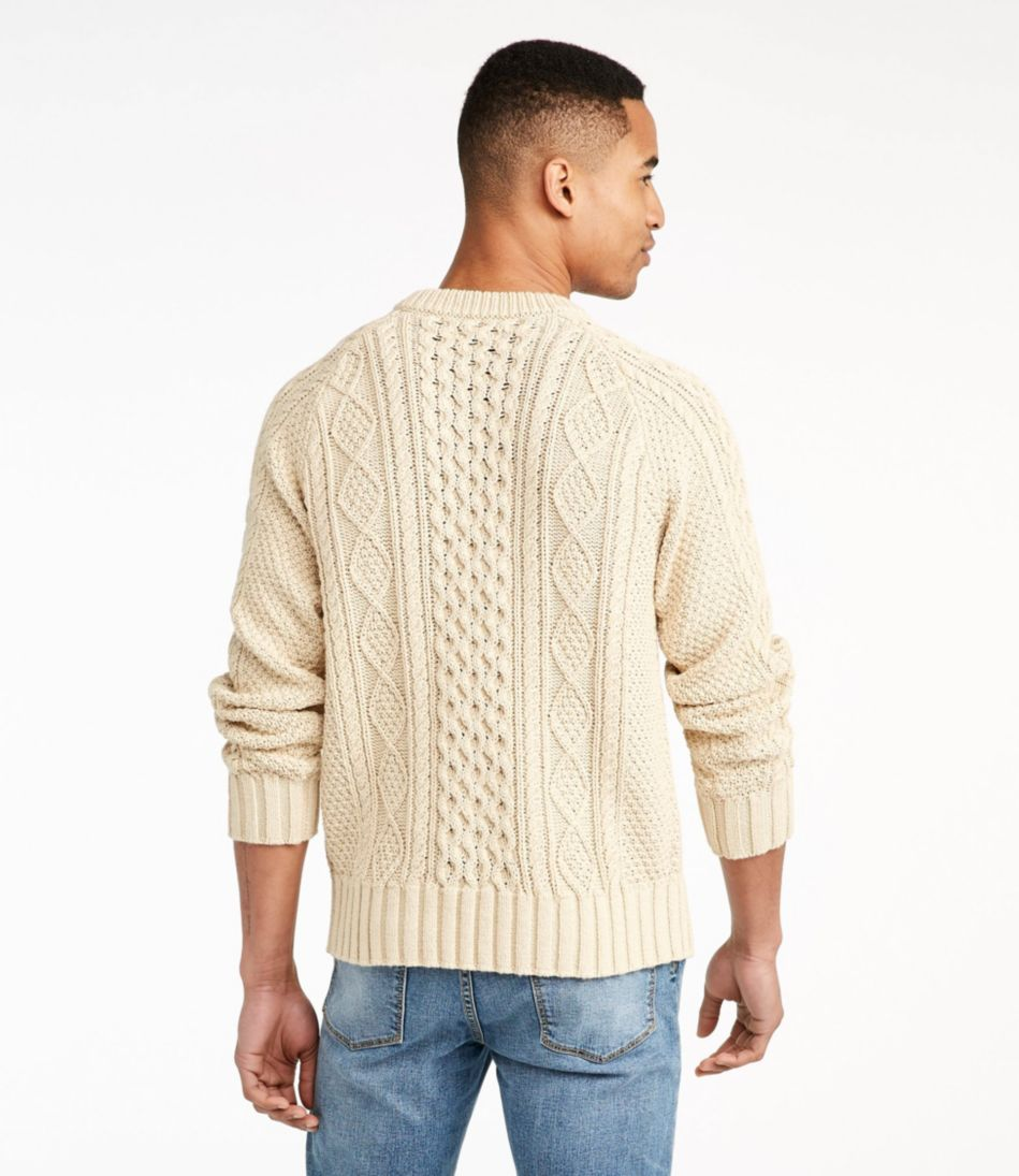 Mens Signature Cotton Fisherman Sweater