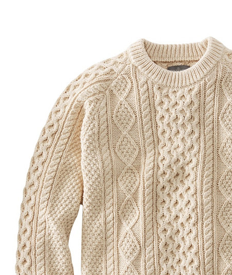 Men's Vintage Sweaters, Retro Jumpers 1920s to 1980s Signature Cotton Fisherman Sweater $99.00 AT vintagedancer.com
