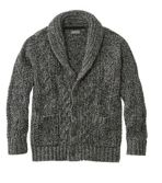 Signature Cotton Fisherman Sweater, Shawl-Collar Cardigan