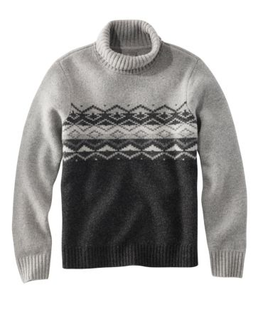 Signature Lambswool Mockneck Sweater, Fair Isle