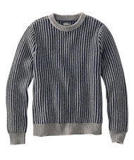 Signature Ribbed Lambswool Sweater, Crewneck
