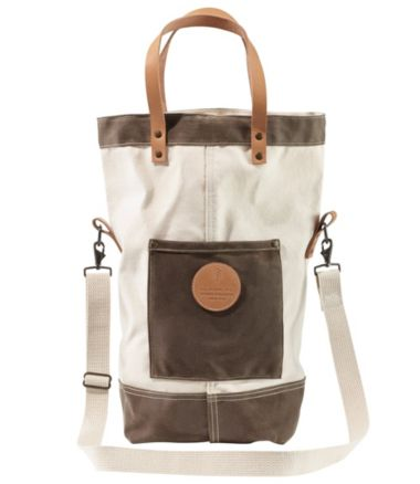 Utility Crossbody Tote, Waxed Canvas Trim