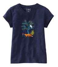 Girls' Graphic Tee, Glow-in-the-Dark