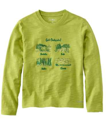 Boys' Graphic Tee, Long-Sleeve Glow-in-the-Dark