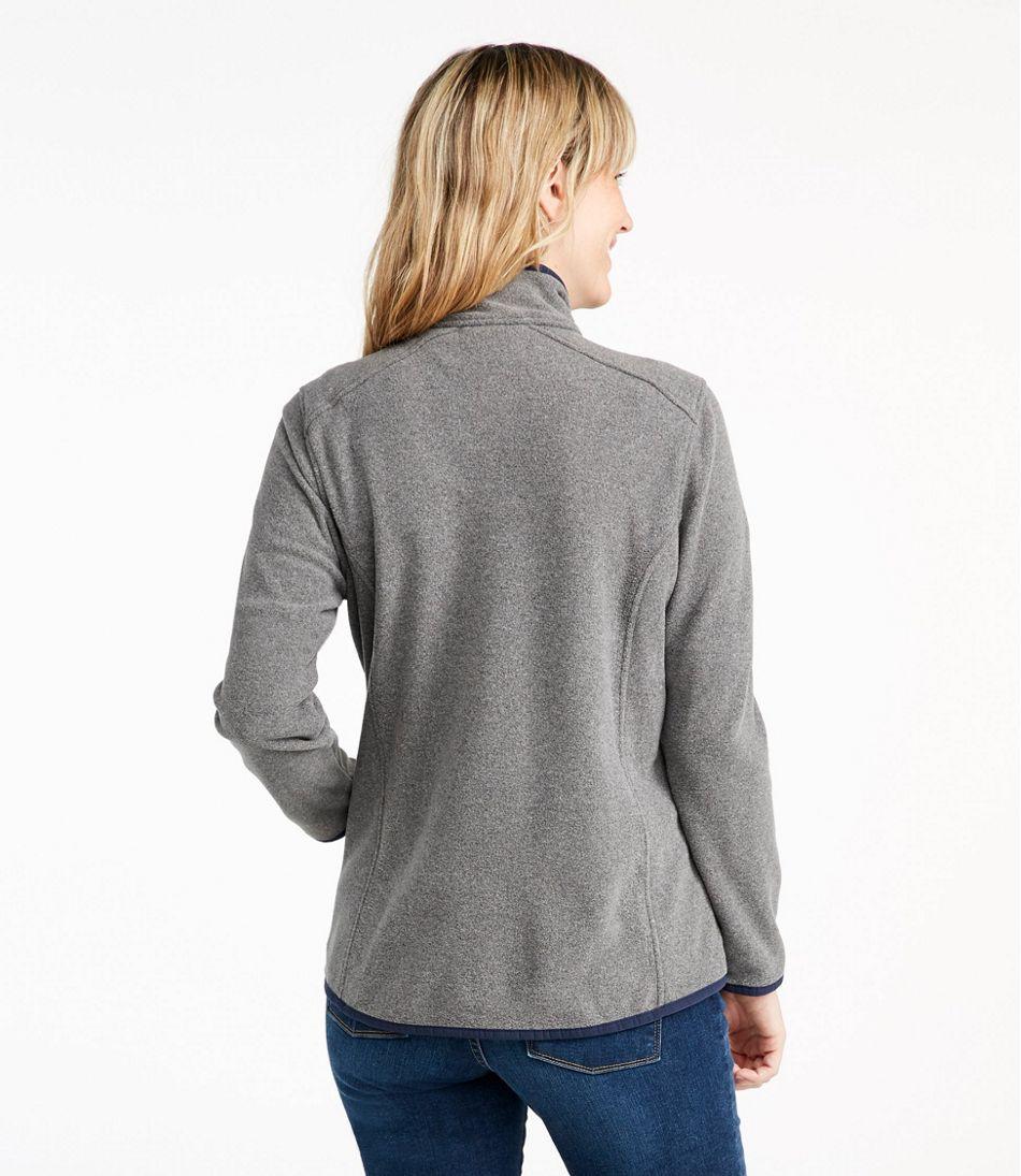 Women's Soft-Brushed Fitness Fleece Zip-Pocket Jacket