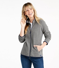 Soft-Brushed Fitness Fleece Zip-Pocket Jacket
