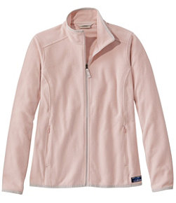 Women's Soft-Brushed Fitness Fleece Zip-Pocket Jacket