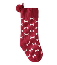 Dog Bone Knit Stocking