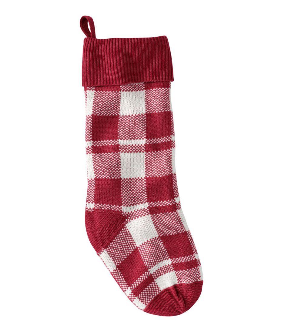 Plaid Knit Stocking