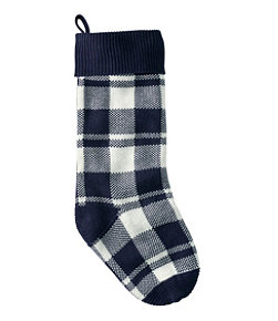 Plaid Knit Stocking