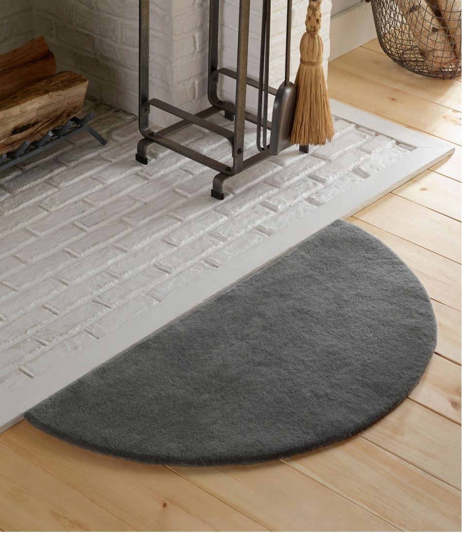 Wool Hearth Rug, Crescent
