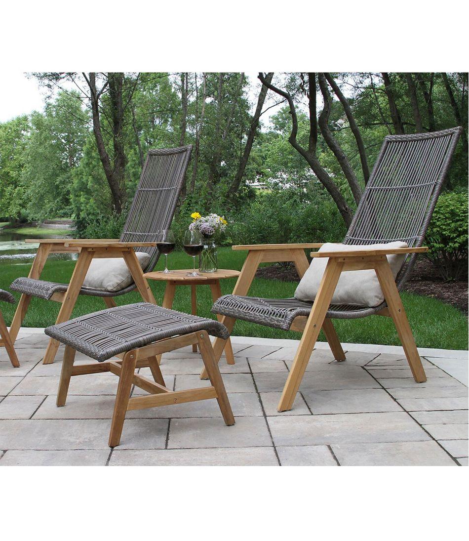 Wicker Teak Chairs, Set of Two