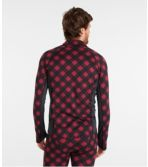 Men's L.L.Bean Midweight Base Layer, 1/4 Zip, Print