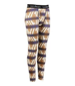 Men's L.L.Bean Midweight Base Layer Pants, Print