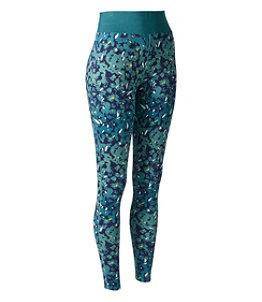 Women's L.L.Bean Midweight Base Layer Pants, Print