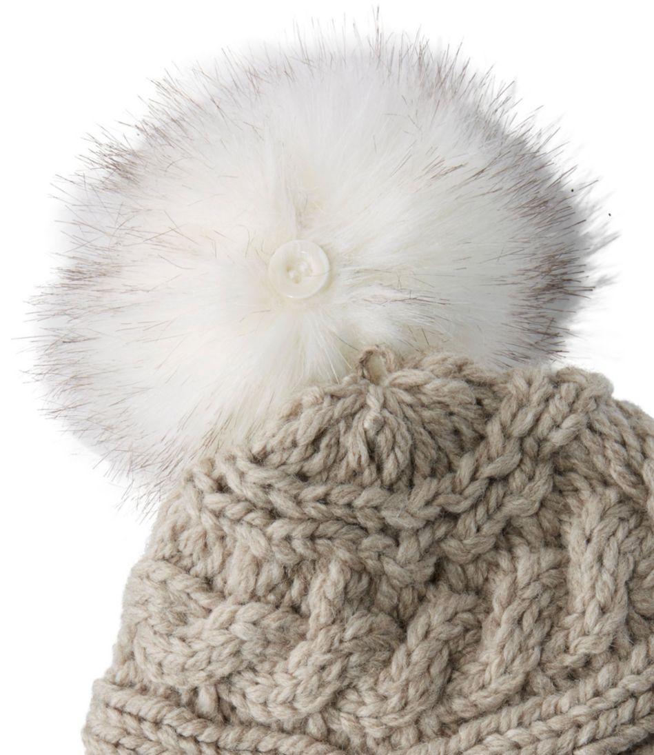 Women's Chunky Knit Pom-Pom Hat