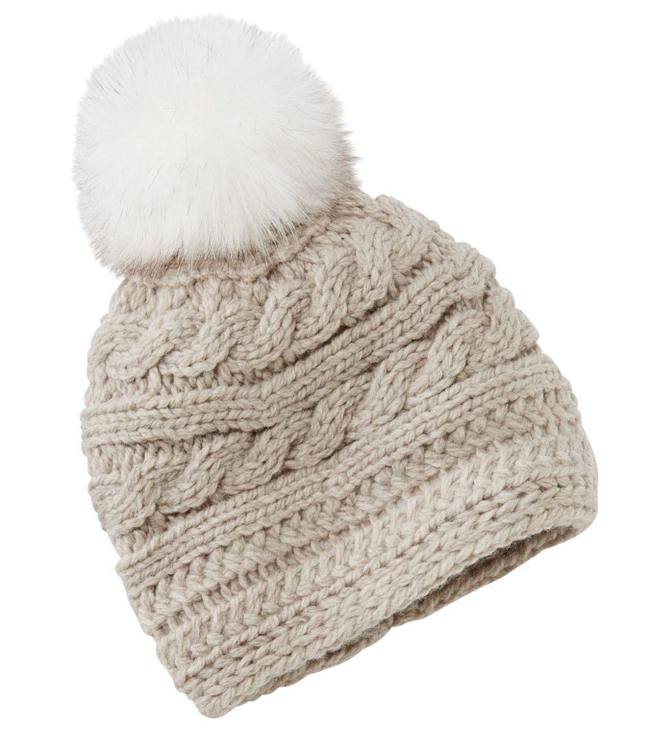 Women s Chunky Knit Pom-Pom Hat 3fd5e4c08b