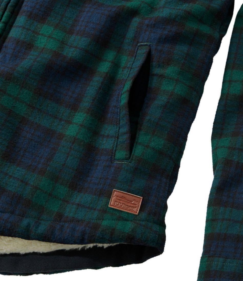 Scotch Plaid Flannel Shirt, Sherpa-Lined Zip Hoodie