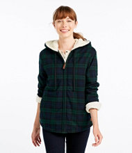 Scotch Plaid Shirt, Sherpa-Lined Zip Hoodie