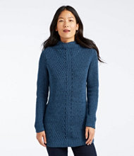 L.L.Bean Shaker-Stitch Sweater, Mockneck Tunic