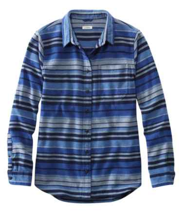 L.L.Bean Organic Flannel Tunic, Stripe